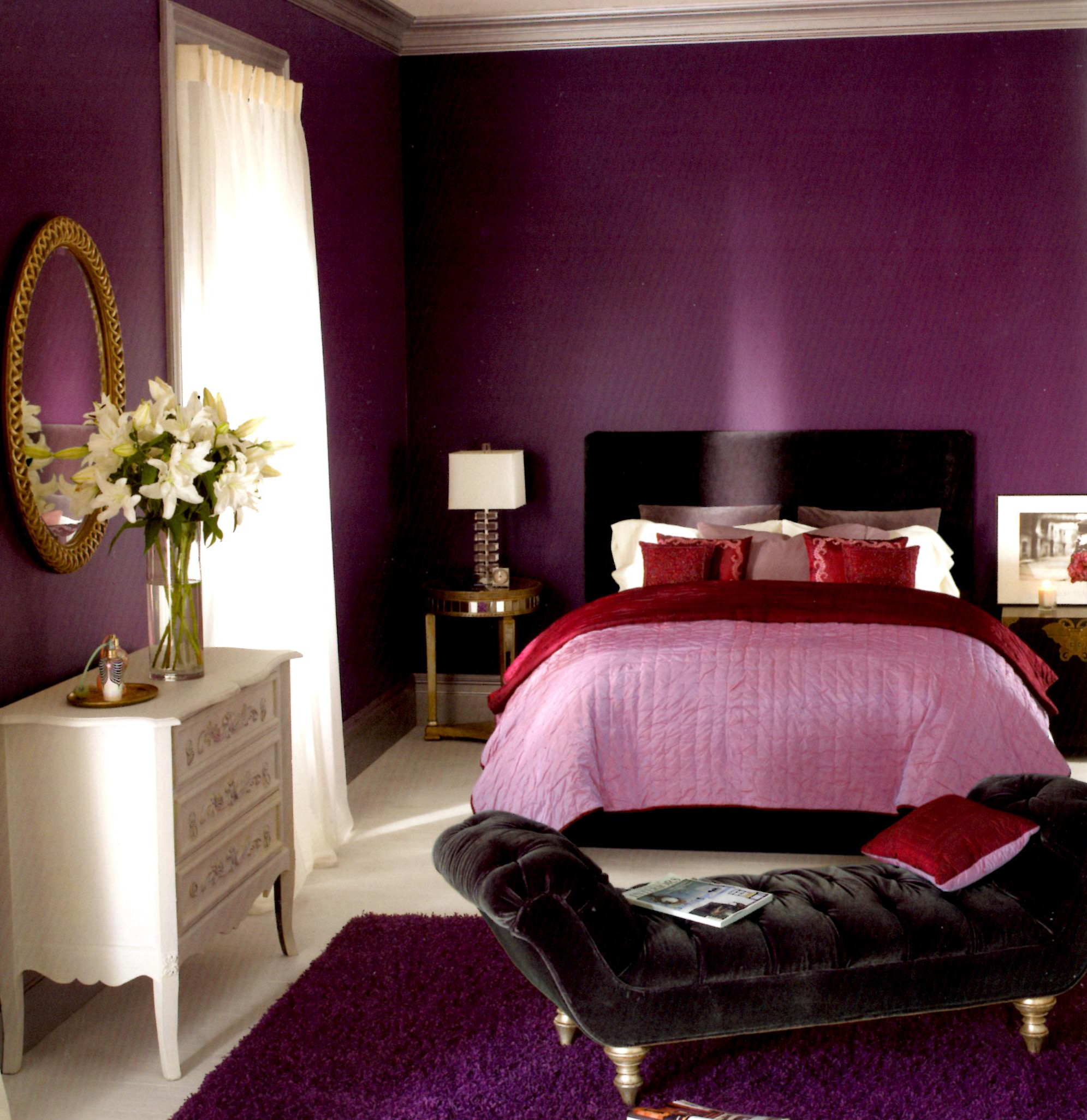 Fascinating Purple Bedroom Walls Of Superbealing Decorating Ideas For Teenage Cheap Acnn Decor