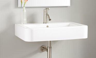 Fascinating Small Wall Mounted Bathroom Sinks Of Burleson Porcelain Wall Mount Sink