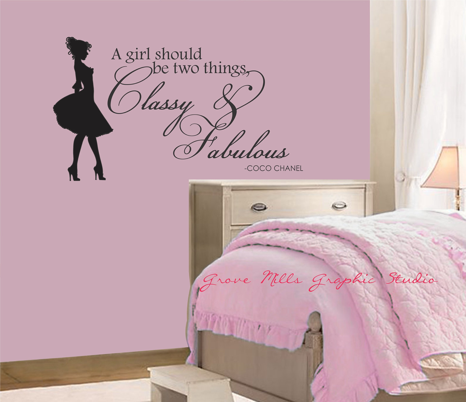 Fascinating Wall Stickers For Bedrooms Of Classy And Decal Coco Chanel Quote