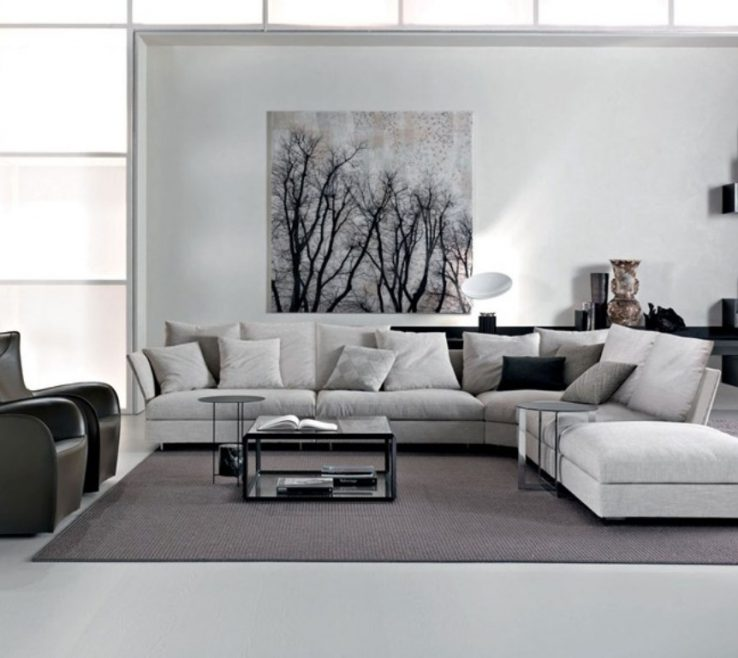 Grey And White Living Room Of Wall Paint Color For Cool Warm