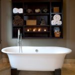 Impressing Bathroom Wall Shelving Of Chic Ideas For Cleaner Interior Ideas