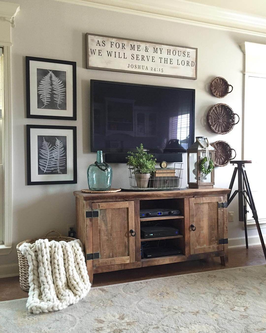 Impressing Cheap Decorating Ideas For Living Room Walls Of Rugged Barnwood Television Console Decor Tv
