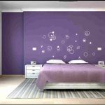Impressing Purple Wall Decor For Bedrooms Of Designs A Bedroom Pinting Design