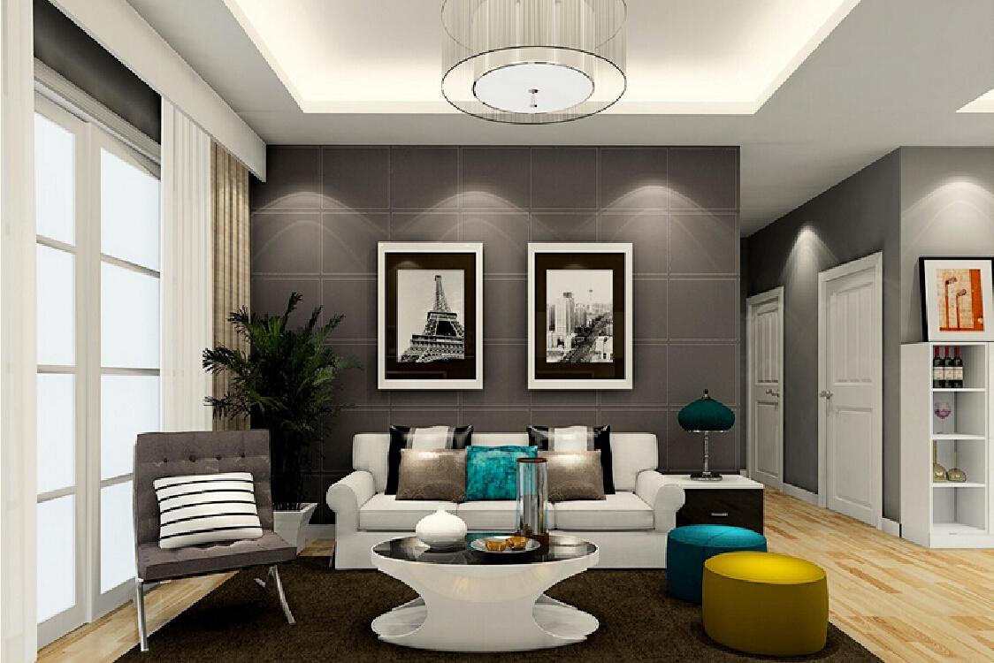 Impressive Grey Living Room Walls