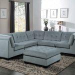 Impressive Light Grey Living Room Of Savarin Sectional pc Set