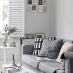 Impressive Light Grey Living Room Of With Ikea Sofa And Monochrome Accessories