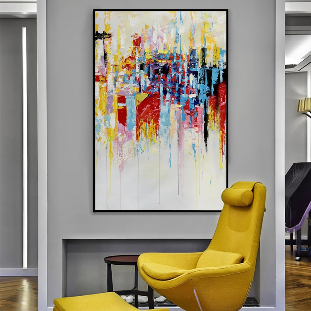 Ing Large Wall Art For Living Room Of Muya Pictures Abstract Painting Canvas Tableau Peinture