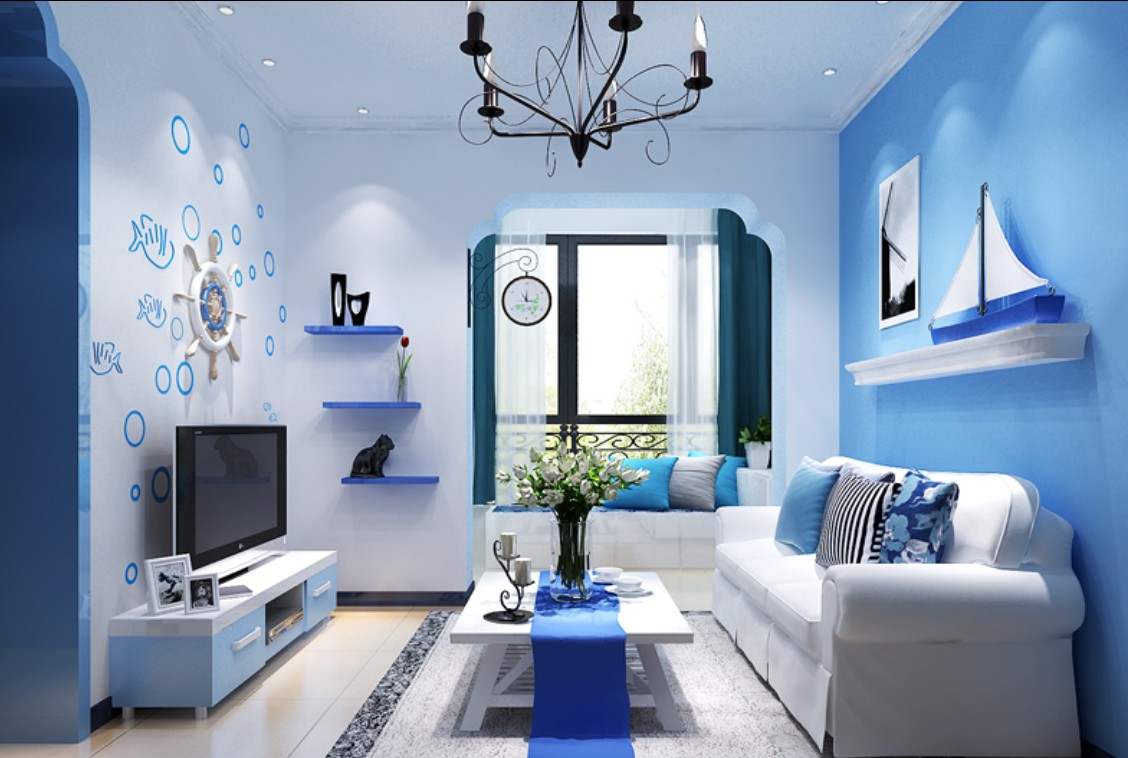 Ing Light Blue Walls Living Room Of On Ideas