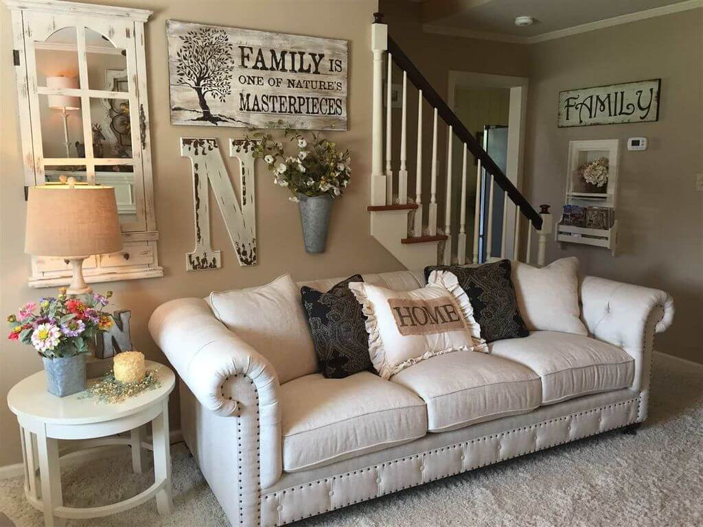 ing living room wall decor of rustic family beautiful 33 best rustic ideas