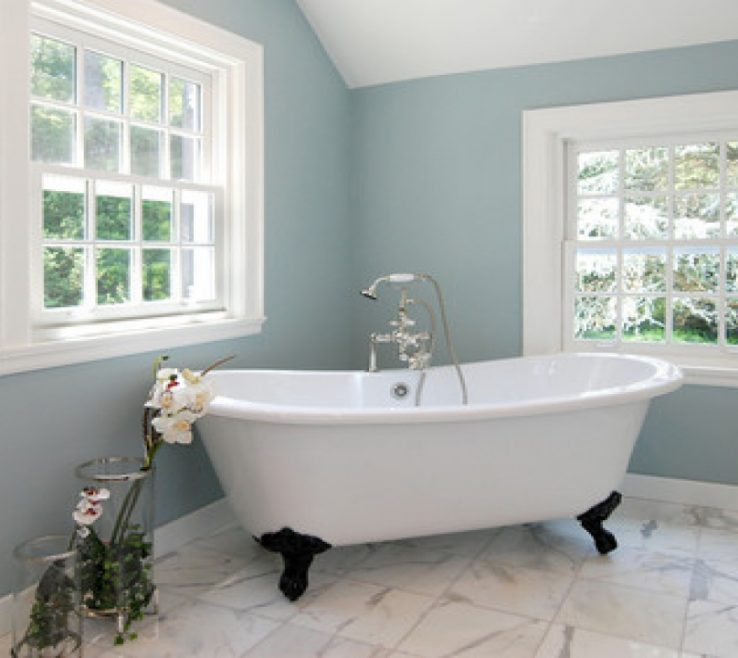 Inspiring Best Bathroom Colors Of For Small With Navy Wall
