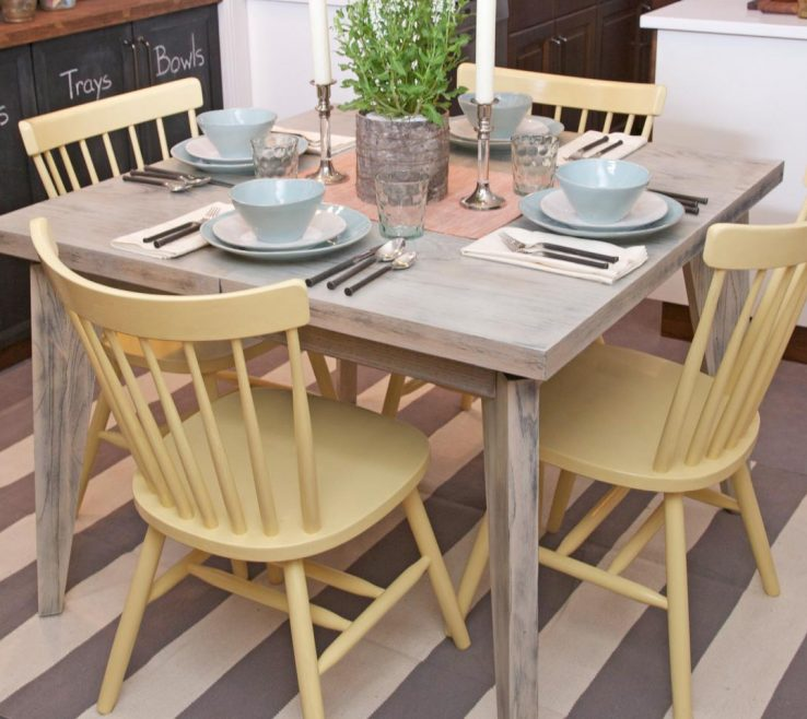 Inspiring Kitchen Table Ideas Of Painting Tables