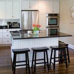 Inspiring Kitchens With Black S Of Kitchen White Shaker S Beadboard Backing