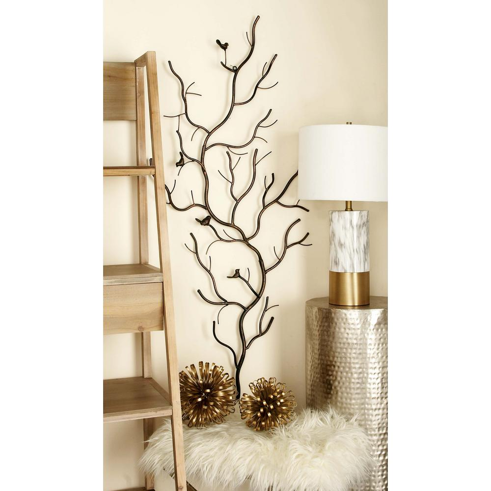Inspiring Rustic Bedroom Wall Decor Of Iron Tree Decorative Nature Art Sculpture Home