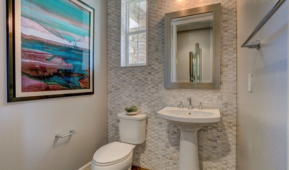 Inspiring Tile Accent Wall In Bathroom Of Love The Tiled Powder Rooms A K