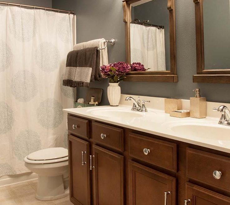 Interior Design For Bathroom Make Over Pleted Makeover On A Budget