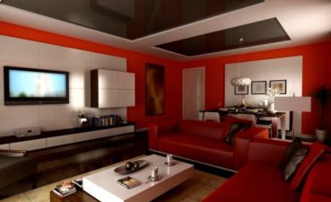 Interior Design For Best Living Room Colors Of Modern Red Paint Ideas With Mirrored Glass
