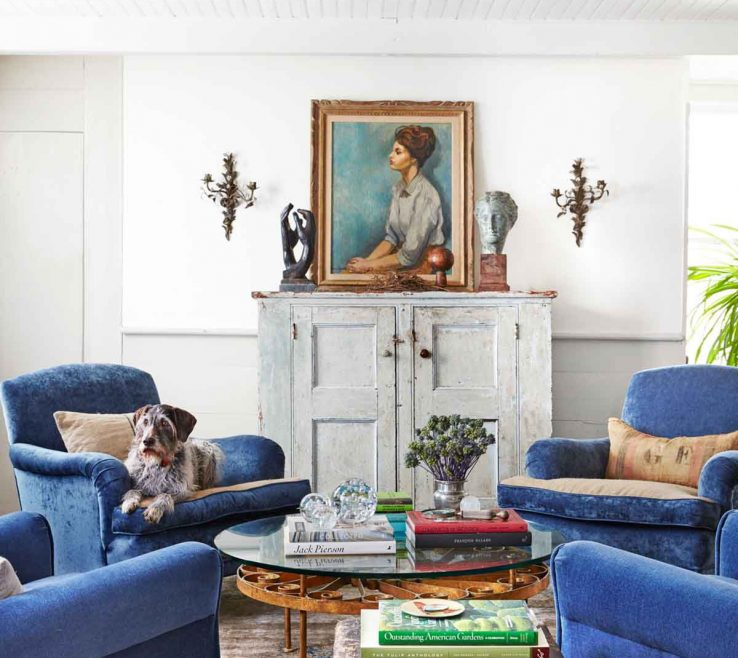 Interior Design For Blue And White Living Room