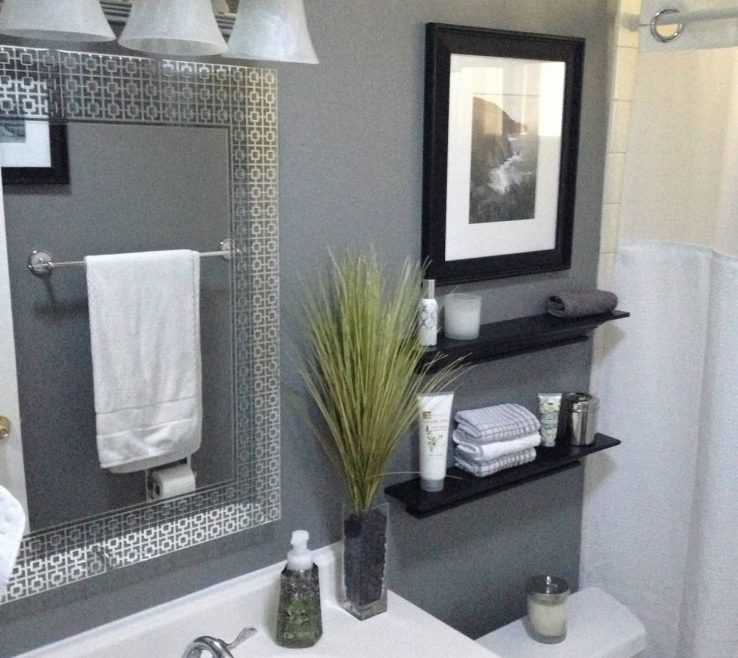 Interior Design For Gray Bathroom Of This Colorful Small Makeover Can Be Done