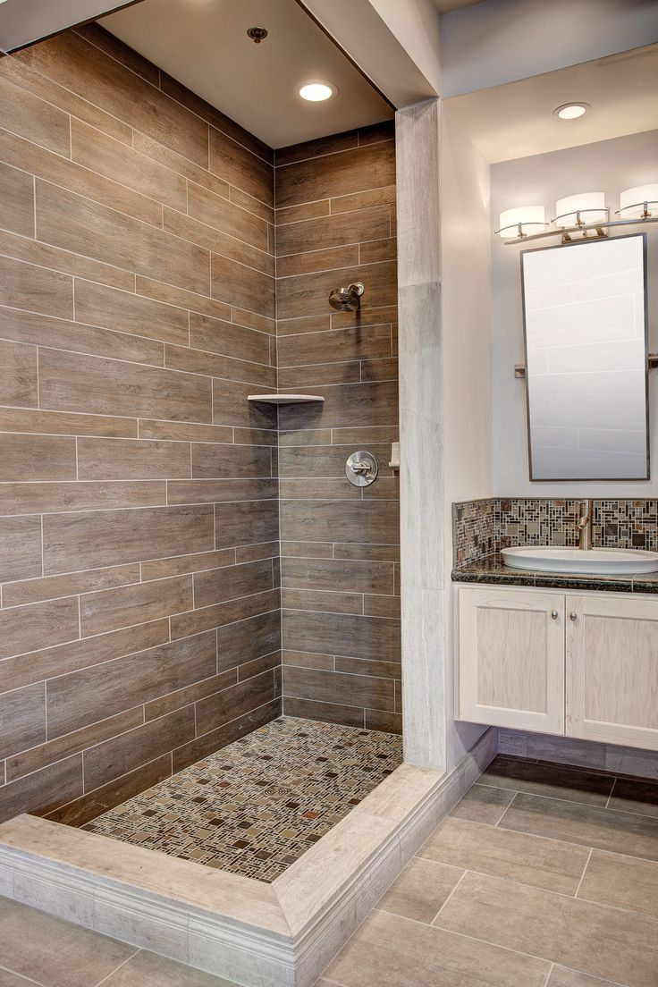 Interior Design For Tiles For Bathroom Wall Of Modern Shower With Wood Tile More Wood