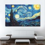 Interior Design For Wall Paintings For Living Room Of Jqhyart The Starry Night Van Gogh Oil
