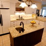Kitchen Island With Sink Of Furniture Dark Brown Wooden Cream