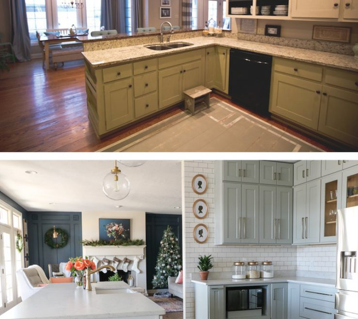 Kitchen Makeovers Before And After Of Diy Remodel Rta S Sincerely Sara D