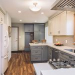 Kitchen Remodel Of Transitional With Gray S And Luxury Vinyl