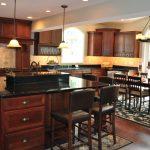 Kitchens With Black S Of Galaxy Granite Kitchen Island Installed