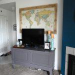 Large Wall Decor Ideas For Living Room Of Diy Map Art Above The Tv jennaandcalder