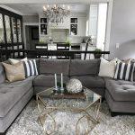 Light Grey Living Room Of Walls