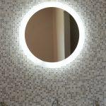 Lighted Bathroom Wall Mirror Of Mirrors Illuminated Aluminum Frame