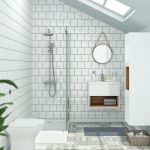 Likeable Bathroom Tile Ideas Of Square White Wall Gloss Tiles Alison