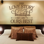 Likeable Bedroom Wall Decorations Of Every Love Story