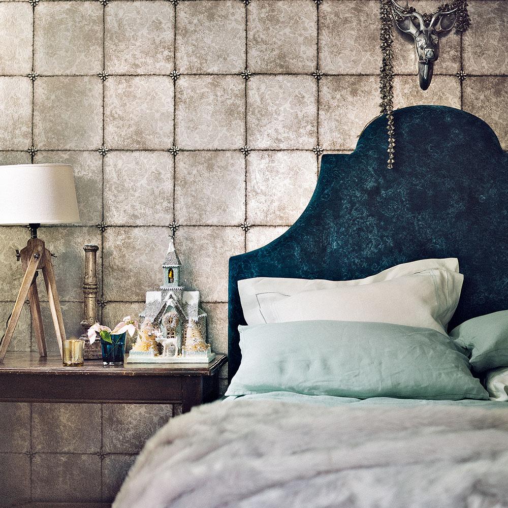 Likeable Grey Wall Bedroom Ideas Of Metallic Wallpaper