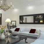 Living Room Wall Mirrors Of Contemporary Horizontal