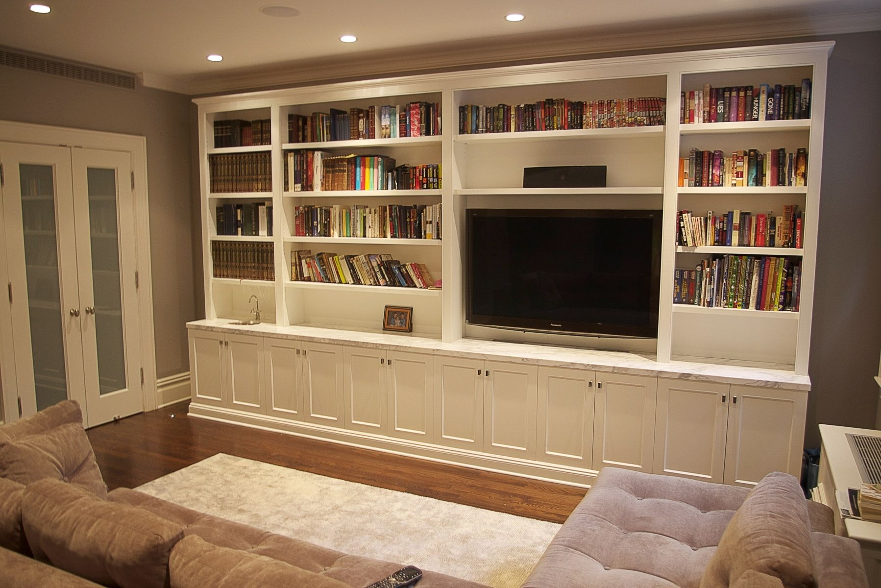Living Room Wall Units Of Custom Made Media Unit