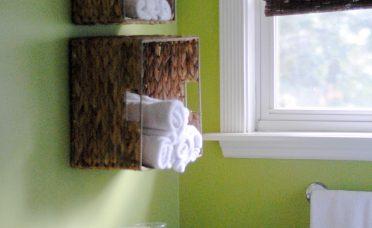 Lovely Bathroom Wall Baskets Of Easy Towel Storage Idea