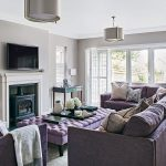 Lovely Light Grey Living Room Of With Lilac Sofa Places To Visit Inspiration