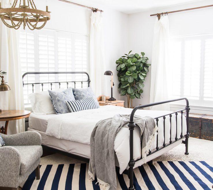 Lovely Master Bedroom Decor Of Simple Coastal Bedroom Maison De Pax