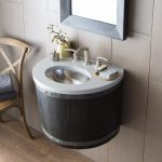 Lovely Wall Hung Bathroom Sink Of Bordeaux Wall Mounted Vanity Base In Anvil vnw