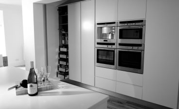 Magnificent Contemporary White Kitchen Of Slide Title