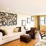 Magnificent Wall Decor For Living Room Of Modern Decoration With Unique Metal Art