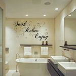 Mesmerizing Bathroom Wall Decals Of Home Decor Soak Relax Enjoy Stickers Removable