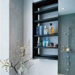 Mesmerizing Bathroom Wall Shelf Of Shelves Sliding Storage Unit Hidden