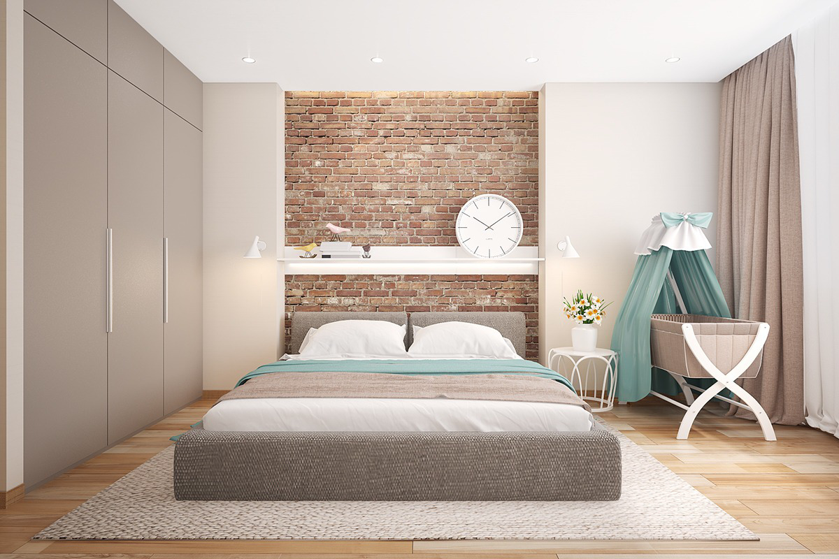 Mesmerizing Brick Wall Bedroom Of Bedrooms With Exposed Walls