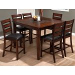 Mesmerizing What To Put In The Middle Of Your Kitchen Table Of Jofran Baroque Brown Piece Counter Height Dining