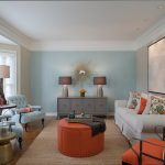 Picturesque Accent Wall Living Room Of Blue