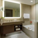 Picturesque Lighted Bathroom Wall Mirror Of Silhouette At The Fairmont Pittsburgh
