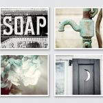 Sophisticated Bathroom Wall Art Decor Of Vintage Lovely Rustic Set Of Prints