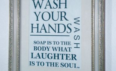 Sophisticated Bathroom Wall Art Ideas Of Gold Frame With Quote
